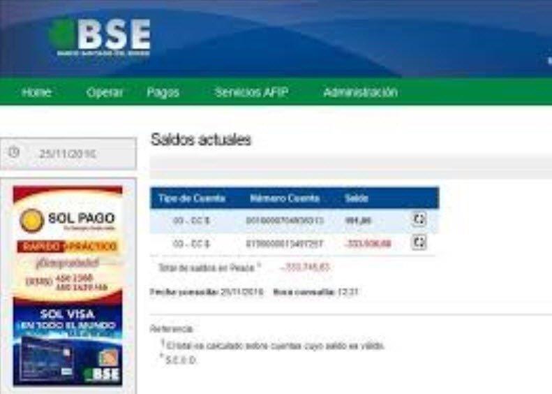 Home Banking banco Santiago del Estero